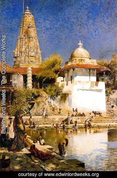 Edwin Lord Weeks - The Temple and Tank of Walkeschwar at Bombay