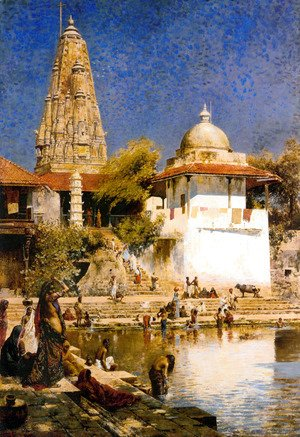 The Temple and Tank of Walkeschwar at Bombay
