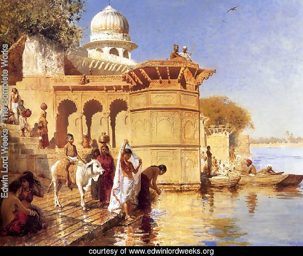 Along the Ghats, Mathura (or Picture Of The Nile)