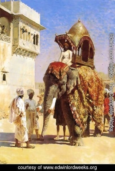 Edwin Lord Weeks - Mogul's Elephant