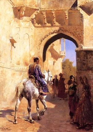 Edwin Lord Weeks - Street Scene in India 2
