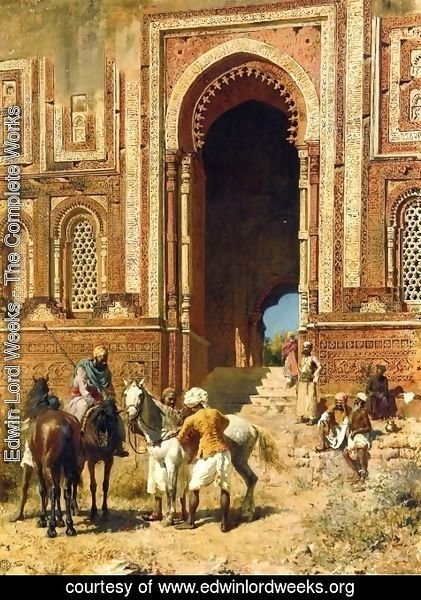 Edwin Lord Weeks - Indian Horsemen at the Gateway of Alah-ou-din, Old Delhi