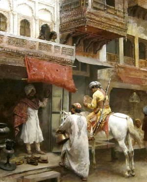 Edwin Lord Weeks - Street Scene in India I