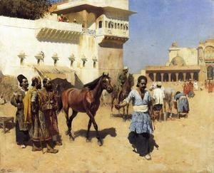 Edwin Lord Weeks - Horse Market, Persian Stables, Bombay