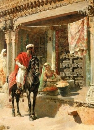 Edwin Lord Weeks - Street Vendor, Ahmedabad