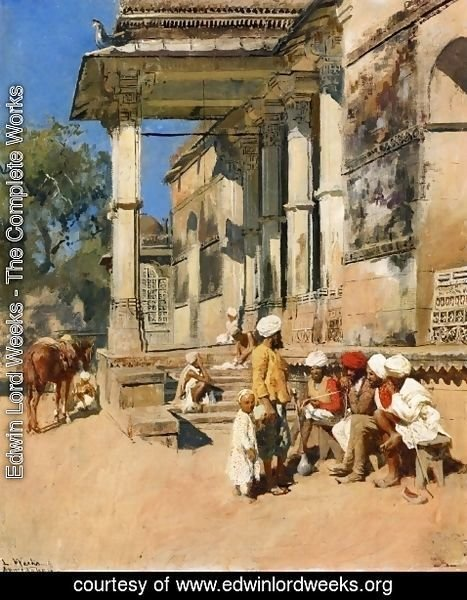 Edwin Lord Weeks - Portico of a Mosque, Ahmedabad