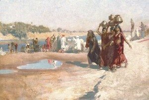 Edwin Lord Weeks - By the River at Ahmedabad, India