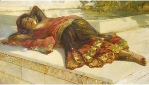 Edwin Lord Weeks - Nautch Girl Resting