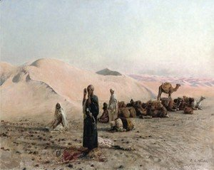 Edwin Lord Weeks - Desert prayer