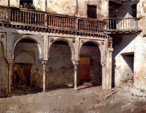 Edwin Lord Weeks - Granada Courtyard
