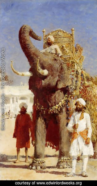 Edwin Lord Weeks - The Rajahs Elephant