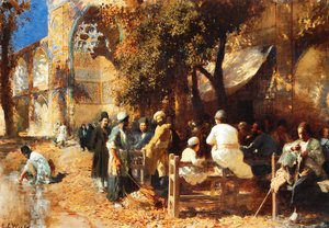 Edwin Lord Weeks - A Persian Cafe