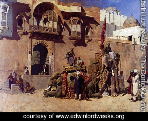 Edwin Lord Weeks - A Rajah Of Jodhpur