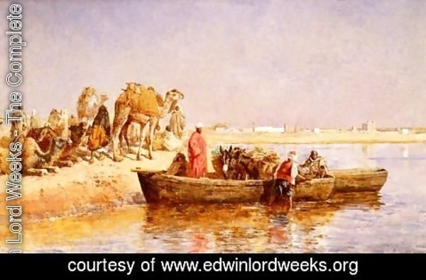 Edwin Lord Weeks - Along The Nile