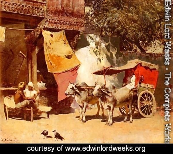Edwin Lord Weeks - An Indian Gharry