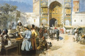 Edwin Lord Weeks - An Open Air Restaurant  Lahore