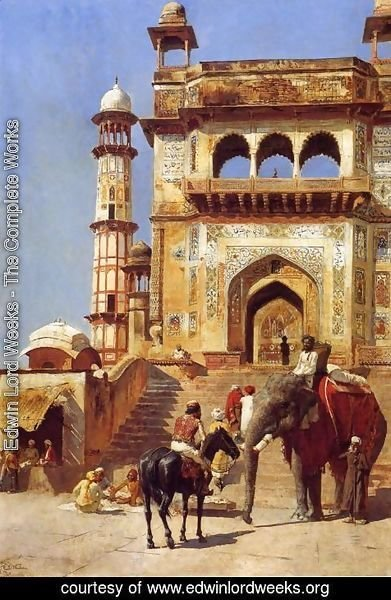 Edwin Lord Weeks - Before A Mosque