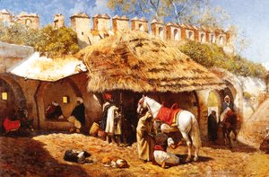 Edwin Lord Weeks - Blacksmith Shop At Tangiers