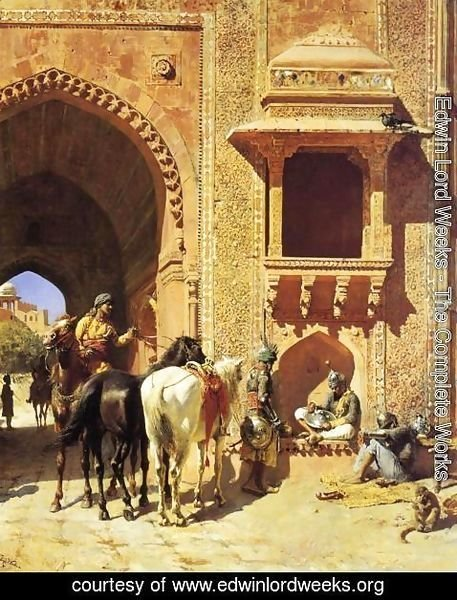 Edwin Lord Weeks - Gate Of The Fortress At Agra  India