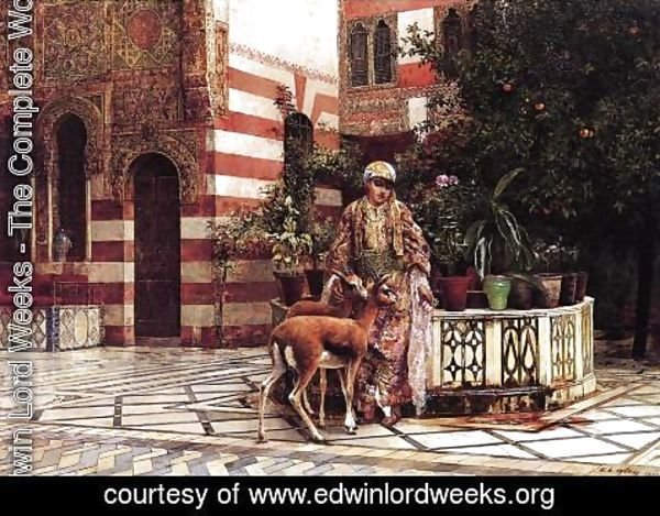Edwin Lord Weeks - Girl In A Moorish Courtyard