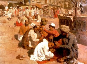 Edwin Lord Weeks - Indian Barbers   Saharanpore
