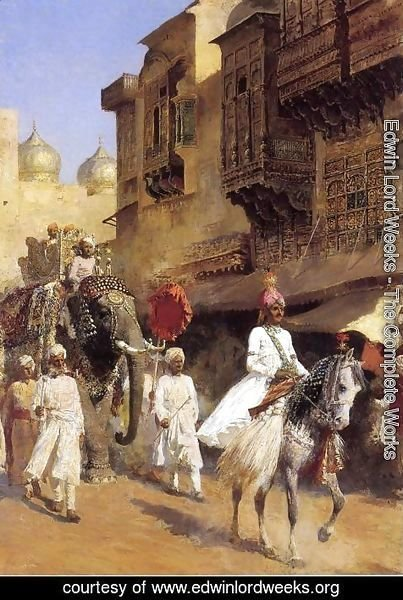 Edwin Lord Weeks - Indian Prince And Parade Cermony