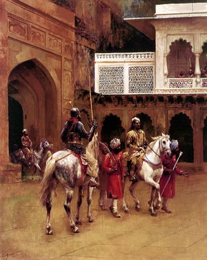 Edwin Lord Weeks - Indian Prince  Palace Of Agra