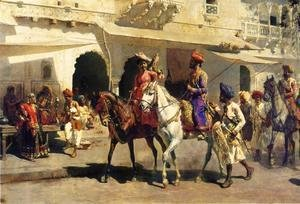 Edwin Lord Weeks - Leaving For The Hunt At Gwalior