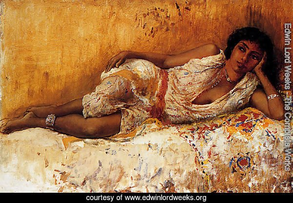 Moorish Girl Lying On A Couch  Rabat  Morocco