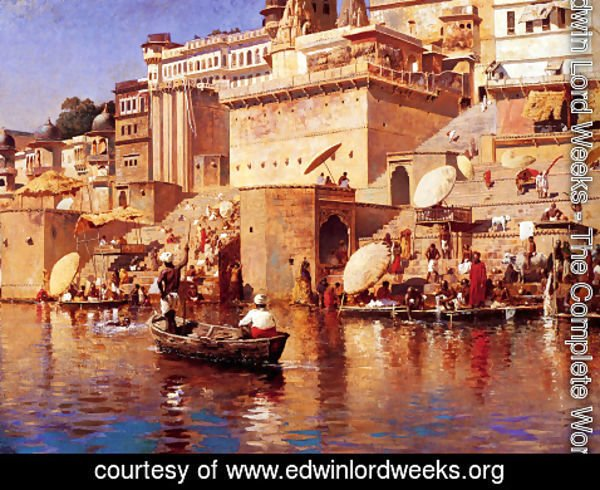 Edwin Lord Weeks - On The River Benares