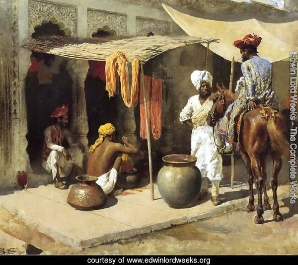 Outside An Indian Dye House