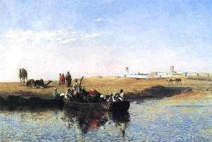 Edwin Lord Weeks - Scene At Sale  Morocco