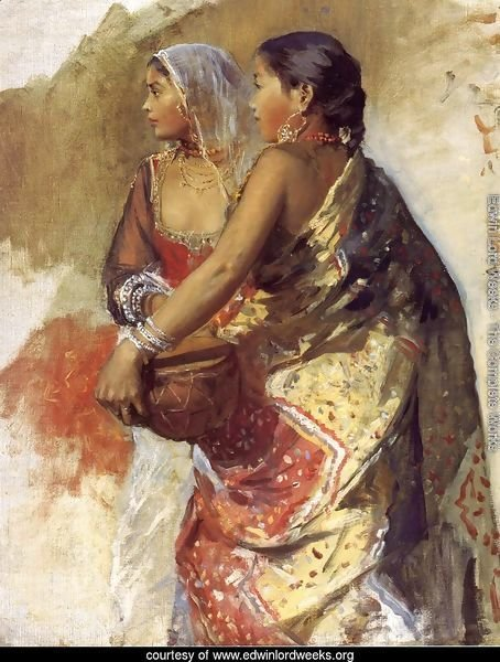 Sketch   Two Nautch Girls