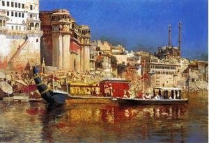 Edwin Lord Weeks - The Barge Of The Maharaja Of Benares