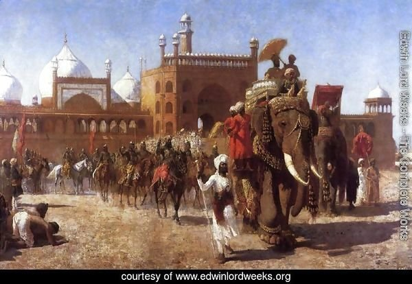 The Return Of The Imperial Court From The Great Nosque At Delhi  In The Reign Of Shah Jehan