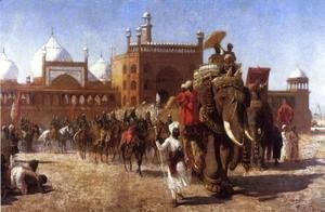Edwin Lord Weeks - The Return Of The Imperial Court From The Great Nosque At Delhi  In The Reign Of Shah Jehan