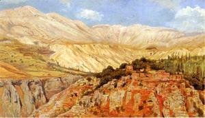 Edwin Lord Weeks - Village In Atlas Mountains  Morocco