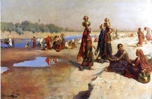 Edwin Lord Weeks - Water Carriers Of The Ganges